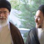 مطهری از برخورد دوگانه با خاتمی و احمدینژاد انتقاد کرد ـ محمد خاتمی در کنار علی خامنهای