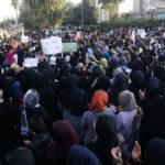 صحنهای از یک تظاهرات اعتراضی در دیماه ۱۳۹۶