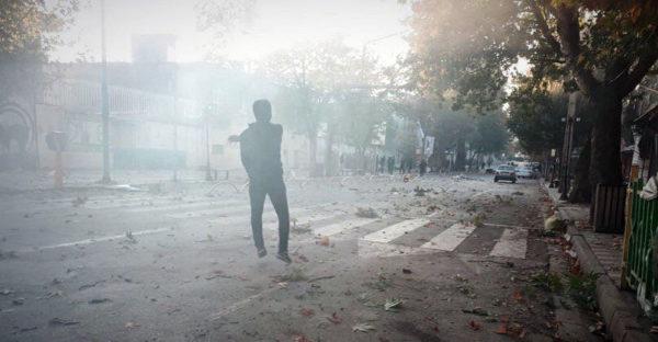 مریوان، شهر معترض، ۲۶ آبان ۱۳۹۸، عکس از شبکههای اجتماعی