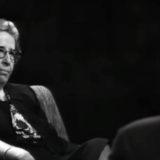 هانا آرنت، برگرفته از ویدئوی مصاحبه گونتر گاوس با او در سال ۱۹۶۴