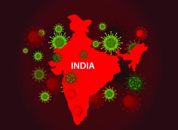 هندوستان، با جمعیتی بیش از ۱ میلیارد و ۳۰۰ میلیون تن، در چنگال کرونا. تصویر از Shutterstock