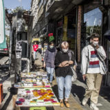 صحنهای از یک خیابان در تهران در روزهای تبلیغات انتخاباتی، خرداد ۱۴۰۰