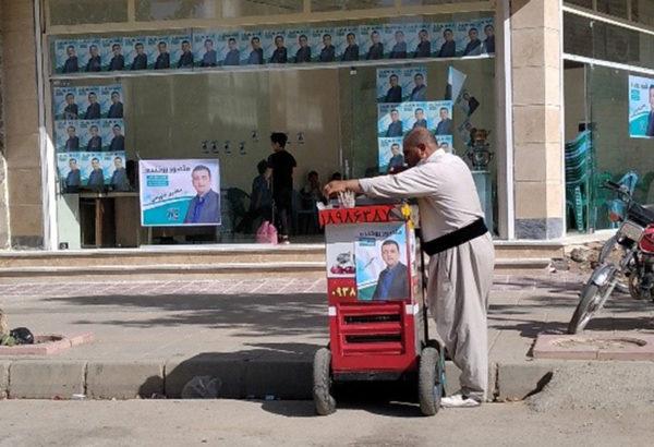 بساطِ چایی و شربت در یکی از ستادهای تبلیغاتی شورای شهر مریوان